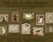 Folk Art Doodle Dandies