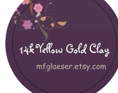 14k Yellow Gold Clay Double Order