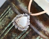 CLEARANCE 60 OFF  - Beach Goddess ~ Real Sea Shell Wrapped Pendant Necklace