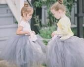 Sweet Flower Girl *Long* TuTu(size 2-4). CUSTOM COLOR tutu, Flower Girl tutu, Baby tutu, Custom Girls tutu, Birthday tutus, Wedding tutu