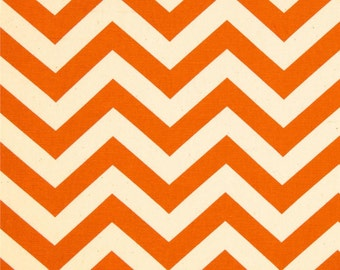 Orange chevron fabric chevron fabric orange chevron remnant orange zig zag fabric