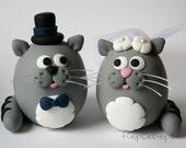 Custom Kitty Wedding Cake Topper