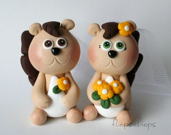 Custom Squirrel Wedding Cake Topper