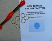 DIY KIT Dorset Button Making Kit - Bright Red - How to Make 6 Buttons