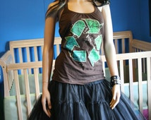 Recycle halter top recycled Small Medium