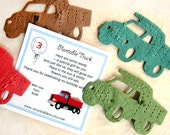 20 Plantable Trucks - Birthday Construction Party Flower Seed Favors - Dump Trucks with Custom Cards Option