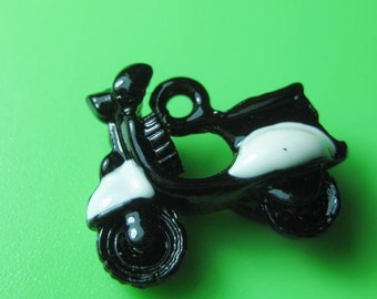 Scooter motor bike  kitsch charm red or black x ONE please choose