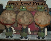 Leprechaun  Primitive St. Patty's Day  doll 171e Crows Roost Prims epattern Immediate Download