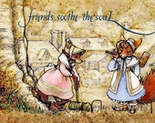 Fox Hollow Tales, friends soothe the soul, greeting cards