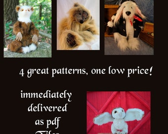 Soft Animal sewing pattern collection, delivered as a PDF