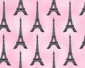 From Robert Kaufman, Studio Frivolite, Paris Panache, Eiffel Towers in pink, yard