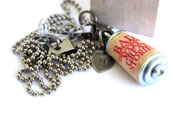 Life Lesson Necklace - Upcycled Cork Jewelry in Test Tube by Uncorked - Bad Decisions