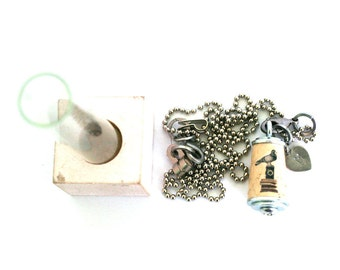 Pigeon Necklace - Pigeon Jewelry - Bird Necklace - Bird Jewelry - Camera Necklace - Stack Books - Recycled - Cork Necklace - Uncorked