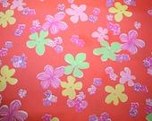 "Lilly Pulitzer fabric ""GARNICHURI"", 100% cotton,  18"" by 18"""