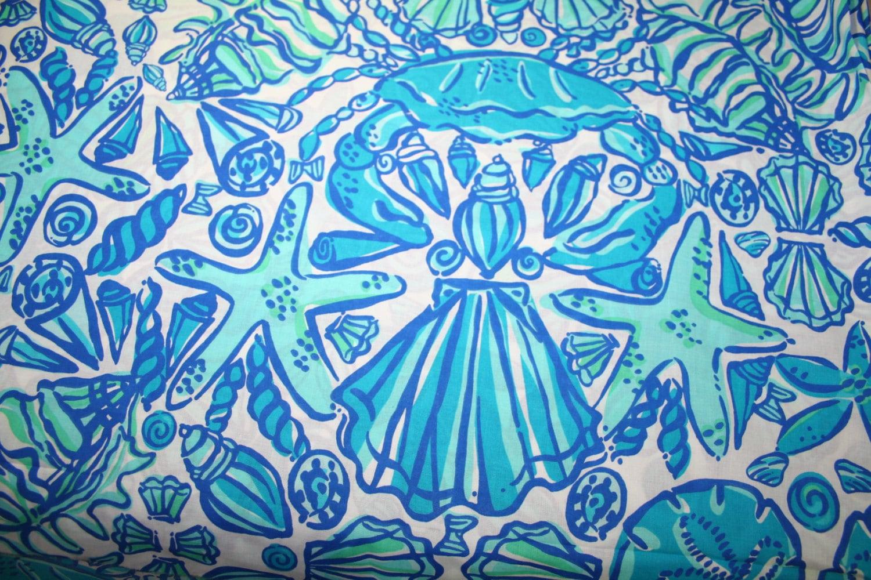Lilly Pulitzer Fabric Blue Sailors Valentine 100