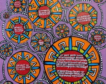 SALE Original Mandala Art: Decisions Inspirational Meditative Reflective