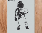 Astronaut Stencil- Reusable Craft & DIY Stencils- S1_01_37 -8.5x11- By Stencil1