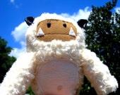 Monster handsewn plush toy - Yeti, Abominable Snowman