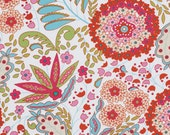 Fabric, Little Azalea Lantana Red Floral Dena Designs Free Spirt Fabric, Fabric Sale, CLOSEOUT SALE