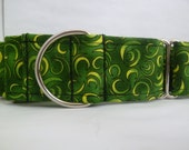 Warm Wags Green Moons Greyhound Martingale Collar