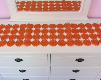 thick Felt flower orange table runner