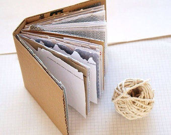 Mail Book - Personalised Recycled Paper Notebook - Mail Art