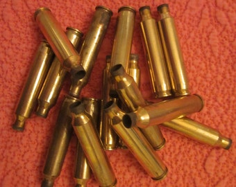 Sixteen Small Brass Bullet Casings for Crafting