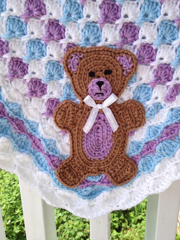 Beary Cute Teddy Bear Applique Crochet Pattern