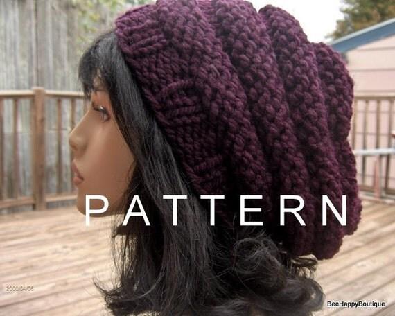 Knit Hat Pattern Slouchy Hat Beehive Pattern Hat Knit Beehive