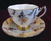 Queen Anne Cup and Saucer Pattern #5748, Vintage PM577
