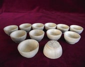 12 Sorting/Stacking Bowls, New Style, Unfinished Commercial Hardwood