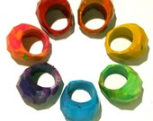 RING Crayons - Crayon Ring -Recycled Rainbow Crayons - Recycled Geodome Crayon Valentines Day Favor