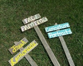 Party Signs For All Occasions Booth Easter Birthday Party Sign Face Painting Fresh Lemonade YOUR WORDS 3 signs BBQ Sign Back Yard Parties