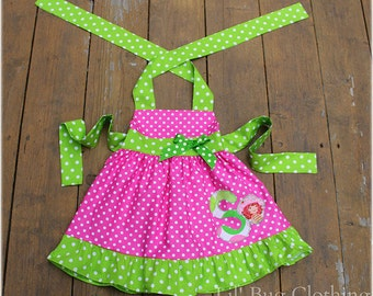 Custom Boutique Clothing Personalized Strawberry Shortcake 1 Piece Jumper Dress Pink Lime