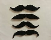10 Pack Adhesive Felt Mustaches (KIDS SIZE), Adhesive Mustaches, Adhesive Moustache, Moustache, Mustache Party Favors