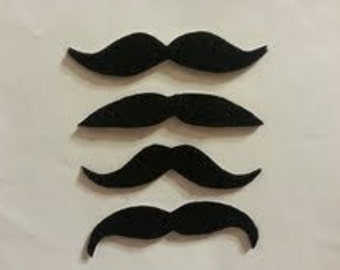 200 Pack Non-adhesive Foam Mustache Pack, mustaches, craft supply,  Moustache, foam Moustache, Moustache, Mustache Party Favors