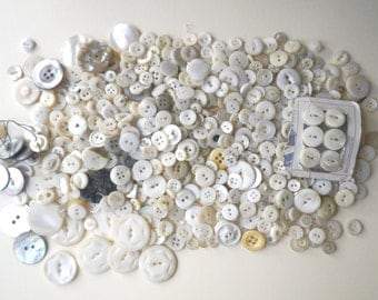 Shell Button Mother of Pearl Hand Carved 771 Antique Vintage Button Lot