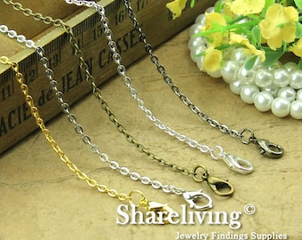 4pcs Silver / Golden / Bronze / Gunemtal / Shiny Silver  Finished Flat Chains