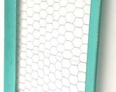 Shabby Cottage Chic Chicken Wire Memo Board