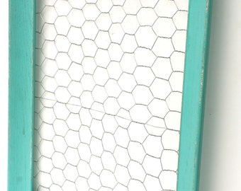 Shabby Cottage Chic Chicken Wire Memo Board