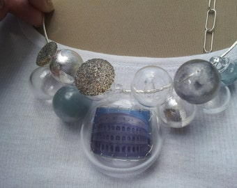 Custom Necklace with large center bubble