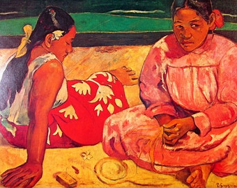 Paul Gauguin - The Women of Tahiti - 14 x 11 - 1973 Vintage Poster