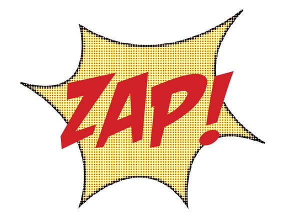 Superhero ZAP Sign