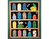 Escaping Bugs Bottle Quilt pattern, PDF paper piecing patterns, bug jars quilt pattern insect quilt pattern mason jars quilt animal patterns