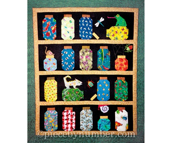 Escaping Bugs Bottle Quilt Pattern Paper Pieced Quilt
