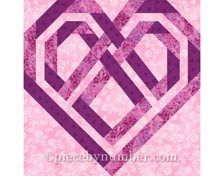 Celtic Heart Quilt Block Paper Pieced Quilt Patterns Instant