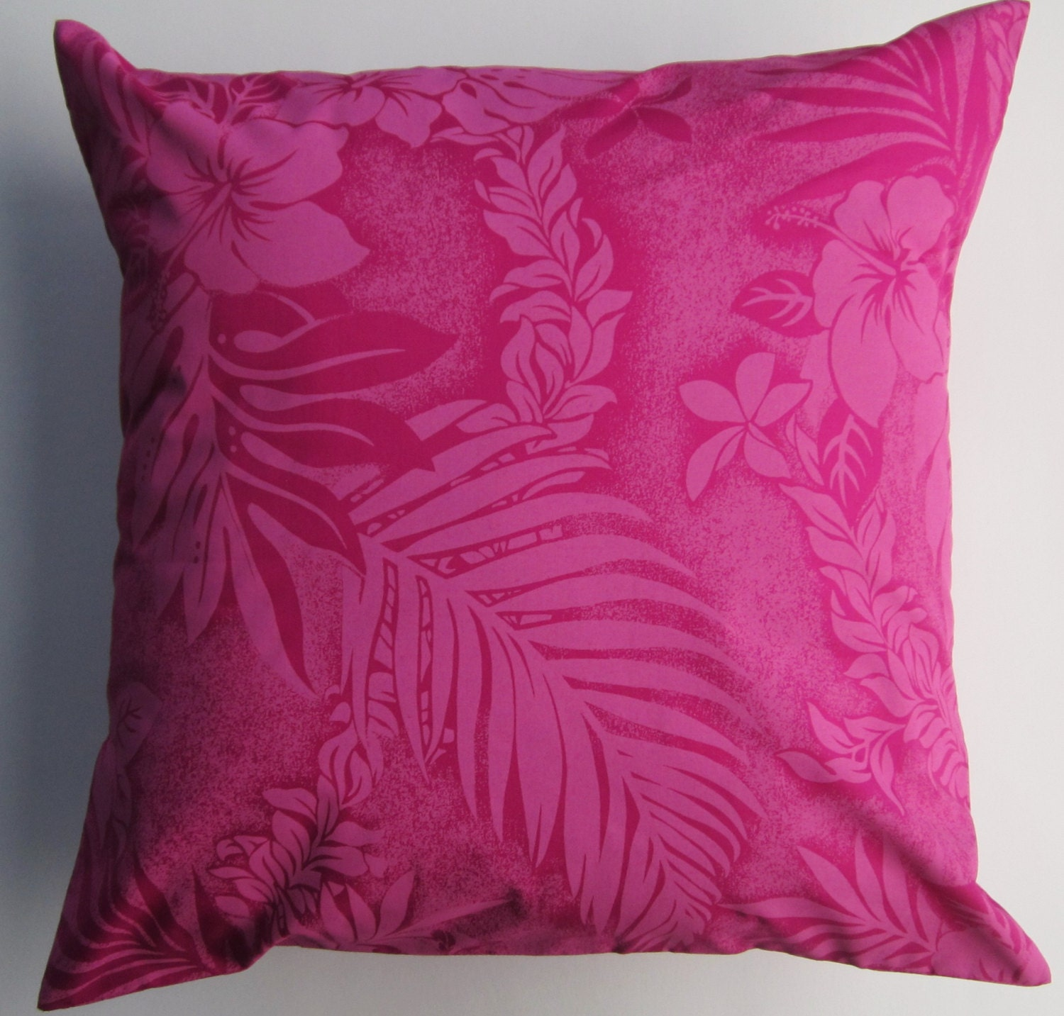 Etsy Pink Throw Pillow : Pink Throw Pillow Cover Dark Pink Tropical Cushion Cover