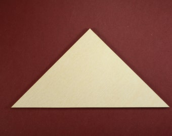 Right-Angle Triangle Unfinished Wood Laser Cut Shapes Crafts Variety of Sizes