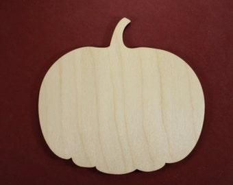 Pumpkin Shape Unfinished Wood Laser Cut Shapes Crafts Variety of Sizes