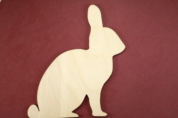 Items Similar To Rabbit Shape Unfinished Wood Laser Cut